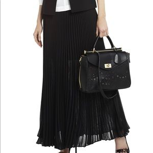 BCBG MAXAZRIA Esten Sunburst pleated maxi skirt.